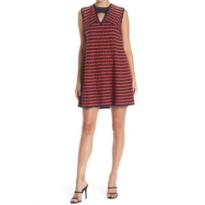 エム ミッソーニ レディース ワンピース トップス Cutout Cap Sleeve Patterned Dress ORANGE