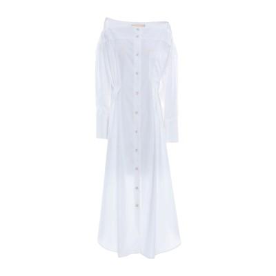 エリカ カヴァリーニ ERIKA CAVALLINI 7分丈ワンピース・ドレス ホワイト 38 コットン 100% 7分丈ワンピース・ドレス
