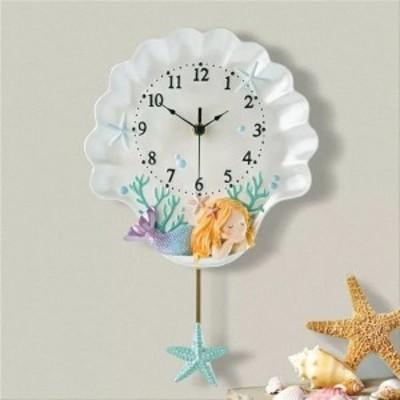壁掛け時計 クロック かけ時計 掛け時計 人魚姫