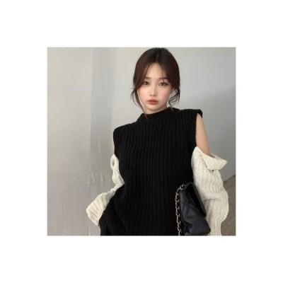 【送料無料】秋 ファッション 複数色 肩なし ラウンドネックセーター ルース 着やせ   364331_A63911-9314574
