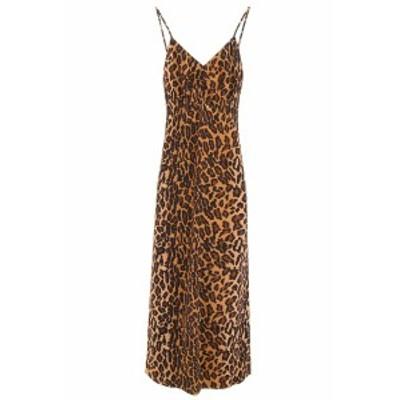 MIU MIU/ミュウ ミュウ ドレス KAKI Miu miu leopard-printed dress レディース 春夏2019 MF2689 1TGL ik