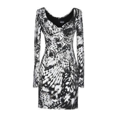 ジャストカヴァリ JUST CAVALLI ミニワンピース&ドレス ブラック 38 92% レーヨン 8% ポリウレタン ミニワンピース&ドレス