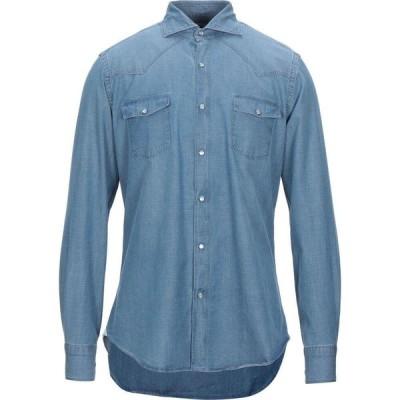 ジャンネット GIANNETTO メンズ シャツ デニム トップス denim shirt Blue