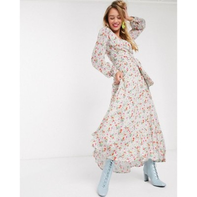 エッセンシャル Essentiel Antwerp レディース ワンピース マキシ丈 ワンピース・ドレス Vemale floral maxi dress in off white オフホワイト