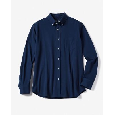 鹿の子カットソーBDシャツ/長袖
