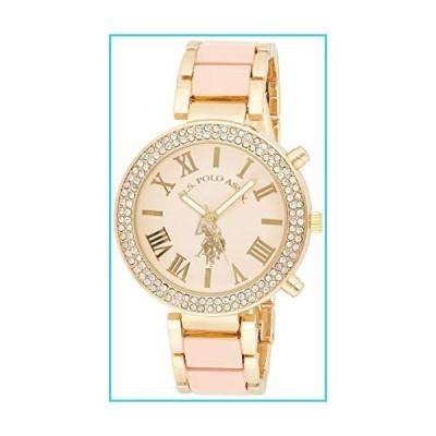 U.S. Polo Assn. Women's USC40063 Gold-Tone and Pink Bracelet Watch【並行輸入品】