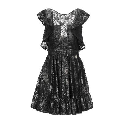 MANGANO ミニワンピース&ドレス ブラック 40 レーヨン 63% / ナイロン 37% ミニワンピース&ドレス