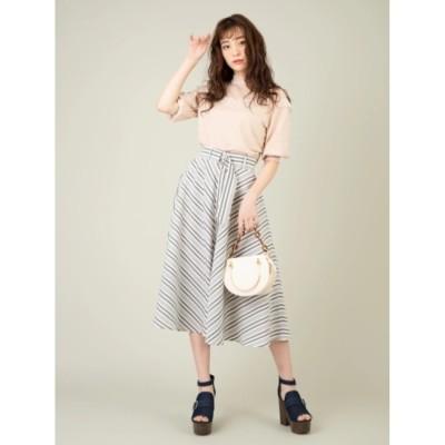 【セシルマクビー/CECIL McBEE】 イレギュラーストライプスカート