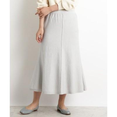 スカート 【S-LL】洗える/抗菌マーメイド風ニットスカート