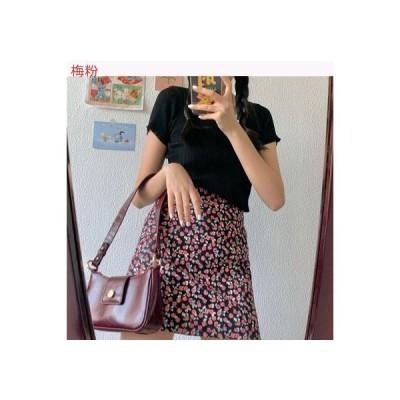 【送料無料】超人気 小花のスカート 女 夏 ハイウエスト 裾 着やせ ヒップカバース | 346770_A62700-5767295