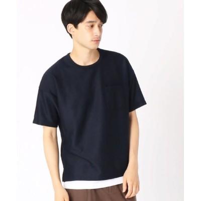 COMME CA ISM/コムサイズム 【セットアイテム】Tシャツ × タンクトップ ネイビー XL