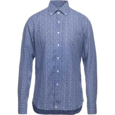 ソンリーサ SONRISA メンズ シャツ トップス linen shirt Blue