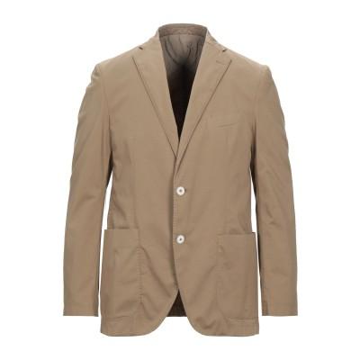 DUCA VISCONTI DI MODRONE テーラードジャケット カーキ 50 コットン 97% / 指定外繊維(その他伸縮性繊維) 3% テ