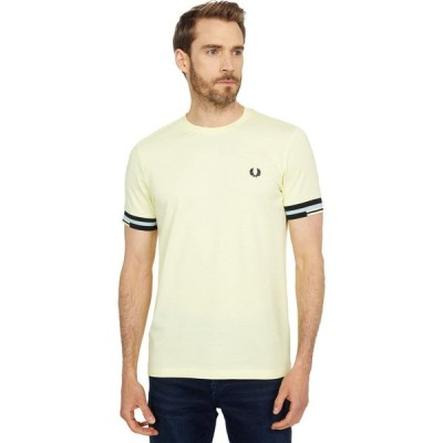 フレッドペリー Fred Perry メンズ Tシャツ トップス Abstract Cuff T-Shirt Lemon Sorbet
