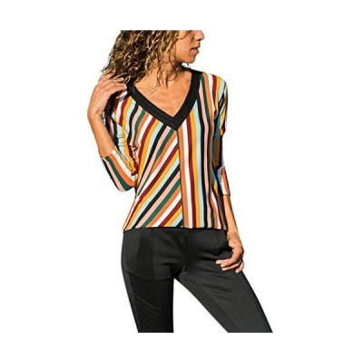 UOKNICE Womens Blouses, Long Sleeve Casual Winter Warm V-Neck Striped Color