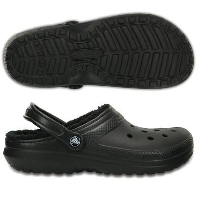 クロックス メンズファッション コンフォートサンダル クラシック ラインド クロッグ black×black crocs 203591-060