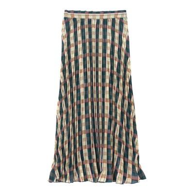 ユアーズ ur's チェックプリーツスカート (ネイビー)