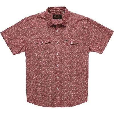 ホウラーブラザーズ Howler Brothers メンズ 半袖シャツ トップス H Bar B Snapshirt Little Agave/Currant Red