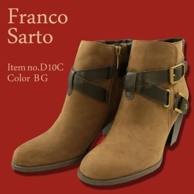 Franco Sarto 本革ベルト付きブーティー D10B  レザー レディースブーツ ハイヒール カジュアルシューズ ローヒール コンフォート シューズ 婦人靴