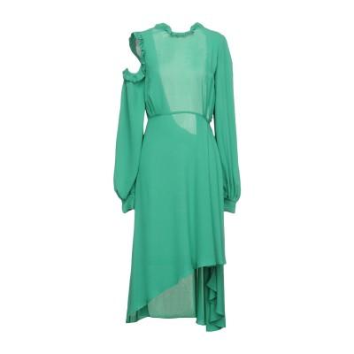 マグダ・ブトリム MAGDA BUTRYM ミニワンピース&ドレス グリーン 34 シルク 100% ミニワンピース&ドレス
