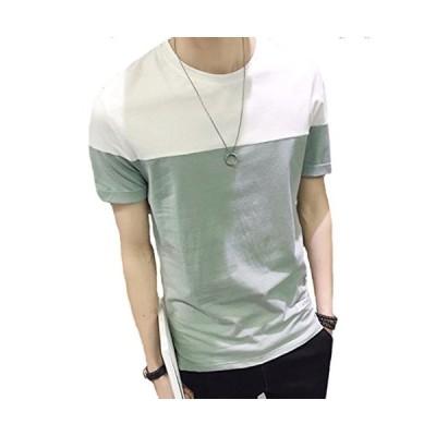 送料無料 メンズ tシャツ 半袖 綿 薄手 カットソー シンプル スポーツ ゆったり おしゃれ 通勤 通学 おおきいサイズ