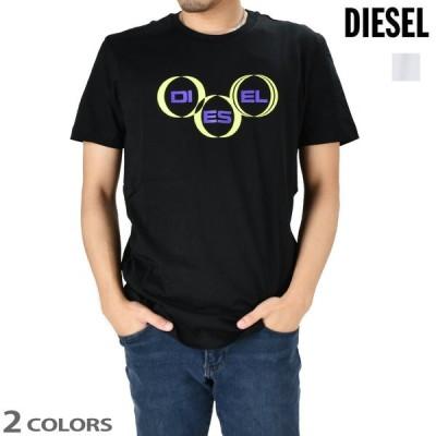 ディーゼル Tシャツ カットソー 半袖 クルーネック ブラック ホワイト 黒 白 T-DIEGOS-K39 メンズ