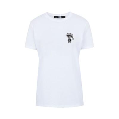 カールラガーフェルド KARL LAGERFELD T シャツ ホワイト L コットン 100% T シャツ