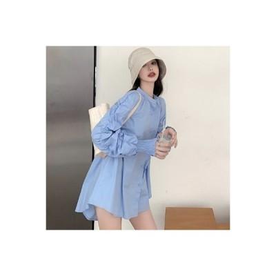 【送料無料】秋 韓国風 気質 何でも似合う ルース 着やせ シャツ デザイン 感 折 | 364331_A63673-9306515