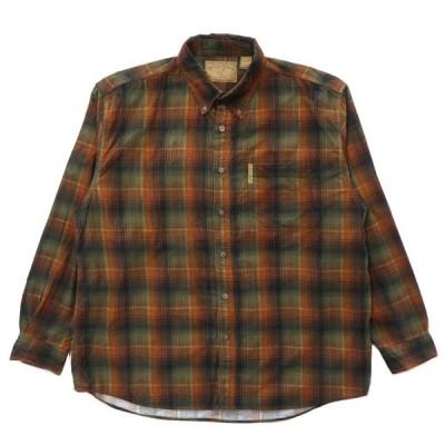 コーデュロイ ボタンダウンシャツ チェック 長袖 サイズ表記:XL