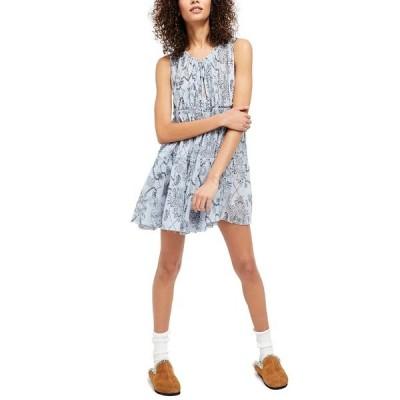 フリーピープル ワンピース トップス レディース Sundown Nightie Mini Dress Blue Combo