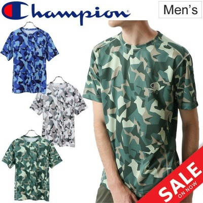 Tシャツ 半袖 メンズ チャンピオン Champion CPFU スポーツ トレーニングウェア カモ柄 迷彩 総柄 男性 /C3-PS307
