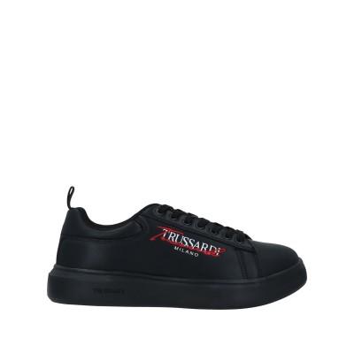 トラサルディ ジーンズ TRUSSARDI JEANS スニーカー&テニスシューズ(ローカット) ブラック 45 合成繊維 スニーカー&テニスシュー