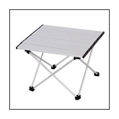 【新品】HUOQILIN Aluminum Outdoor Folding Table Folding Small Table Portable Barbecue Stall Tables (Color : Silver, Size : S)
