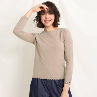 クチュール ブローチ Couture brooch スカラップニット (ベージュ)