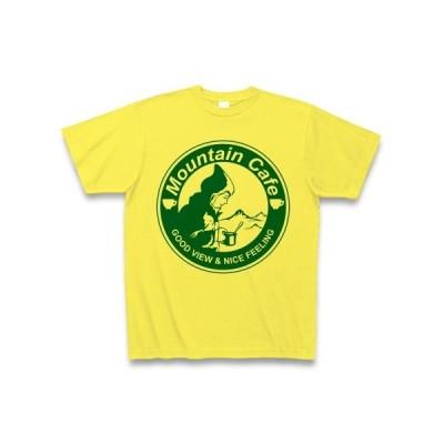 マウンテンカフェ(丸ロゴ緑) Tシャツ(イエロー)