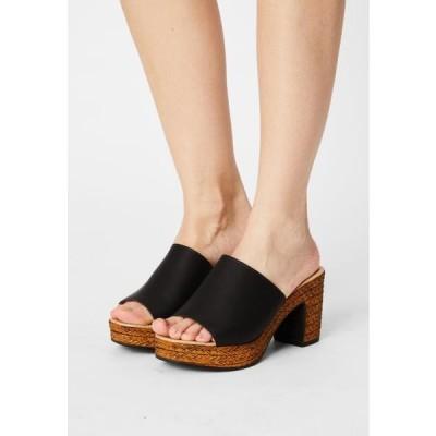 タタイタリア レディース 靴 シューズ Heeled mules - black