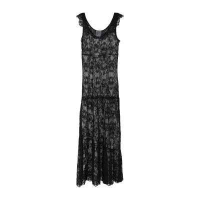 PEPITA ロングワンピース&ドレス ブラック 42 ナイロン 100% / レーヨン ロングワンピース&ドレス
