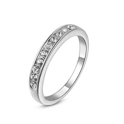 [Acefeel(エスフィール)] 華奢 指輪 レディース 両粒 CZ ダイヤモンド リング k18RGP ファッションアクセサリー キラキ