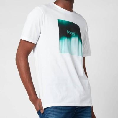 ヒューゴ ボス BOSS Hugo Boss メンズ Tシャツ トップス BOSS Casual Tiris 1 T-Shirt - White White