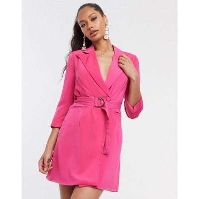 フォース&レックレス 4th + Reckless レディース ワンピース ブレザードレス ミニ丈 4th & Reckless mini blazer dress in pink マゼンタ