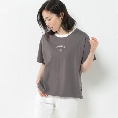 【CONVERSE】天竺シューズ刺繍リンガー配色Tシャツ【M―3L】(コンバース/CONVERSE)