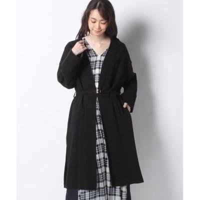 (alcali/アルカリ)【nota】セータージャージノーカラーはおり/レディース ブラック