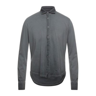 ブルックスフィールド BROOKSFIELD シャツ スチールグレー 54 コットン 100% シャツ
