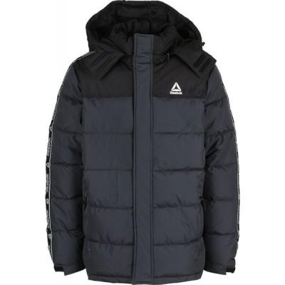 リーボック Reebok メンズ ダウン・中綿ジャケット フード アウター Hooded Puffer Jacket Black/Charcoal