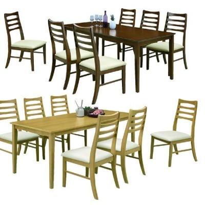 ダイニングテーブルセット 6人掛け 7点 テーブル幅170 木製 北欧 モダン シンプル