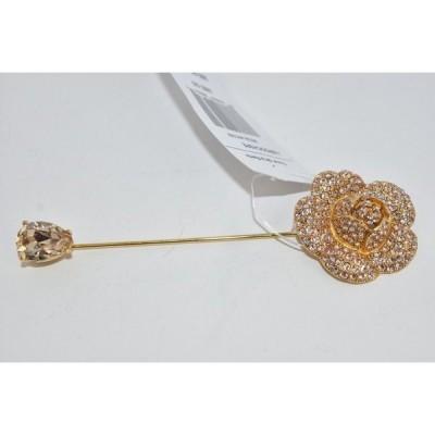 ピン ブローチ オスカーデラレンタ Oscar de la Renta  Gardenia Flower Pav? Crystals Brooch Gold