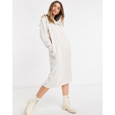 モンキ Monki レディース ワンピース ワンピース・ドレス Ida Organic Cotton Midi Sweat Dress In Grey グレー