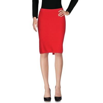 マニラ グレース MANILA GRACE ひざ丈スカート レッド 40 コットン 100% ひざ丈スカート