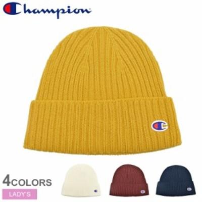 【メール便可】チャンピオン ニット帽 Wキャップ レディース 帽子 アクセサリー 白 赤 CHAMPION CW-QS705C