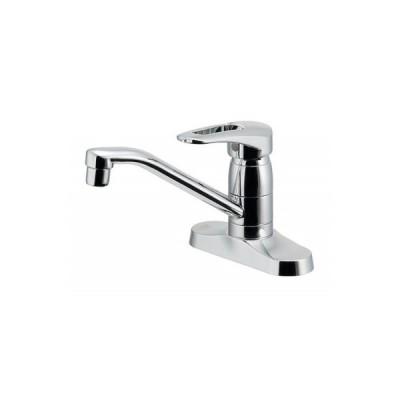 カクダイ製(KAKUDAI)116-107 シングルレバー混合栓(キッチン2穴台付) ◎キッチン水栓 一般地用